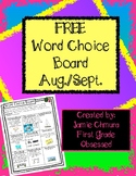 FREE Word Choice Board
