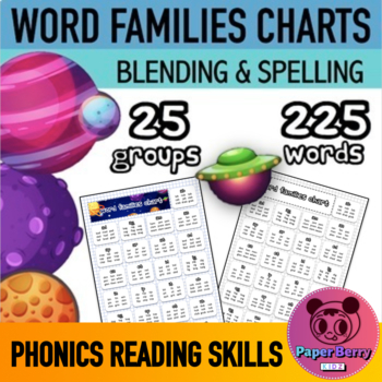 FREE Word Families Charts (Phonics, Blending, Reading Skills)