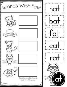 This is an image of Remarkable Word Families Printable