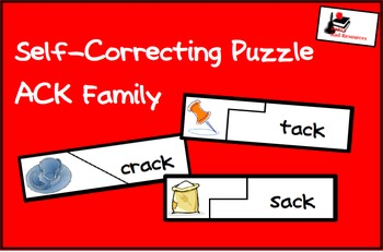 FREE Word Family Packet - ACK Family