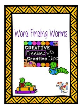 FREE! Word Finding Worms