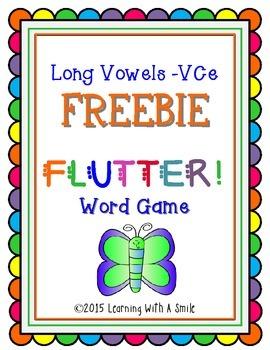 Phonics Word Game FREE  Long Vowels (VCe)  FLUTTER!