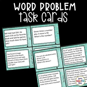 FREE Word Problems - Multi-Step Task Cards - Missing Information Questions