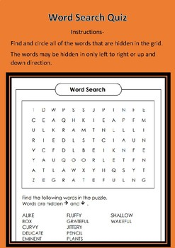 FREE Word Puzzle for Kids.