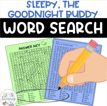 Sleepy, the Goodnight Buddy Word Search - FREE