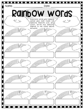 FREE! Word Study Activity Pages {No Prep!}