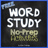 FREE! Word Study (Words Their Way) Activity Pages {No Prep!}