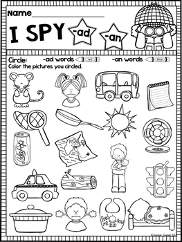 FREE Word Study NO PREP (Journeys Phonics First Grade Lesson 1 Supplement)