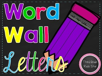 Word Wall Letters ~ Chalkboard & Bright Flags {Print Version}