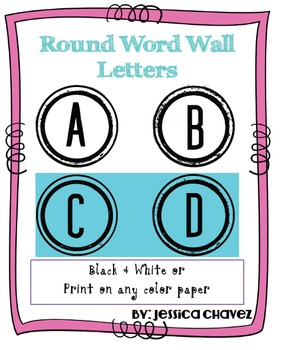FREE Word Wall Letters Round