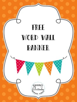 FREE Word Wall Pennant Banner