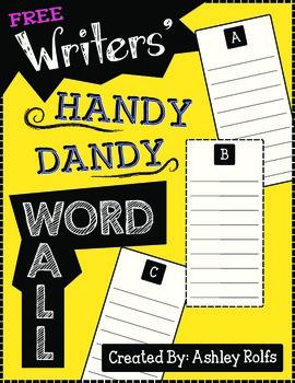 FREE Word Wall: Writing Binder Essential!