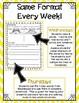 1st Grade Word Work Activities (weekly) - FREE SAMPLE