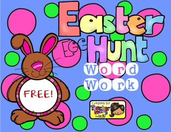 Free Word Work Fun Make A Word Easter Egg Hunt By Teacher Mommy