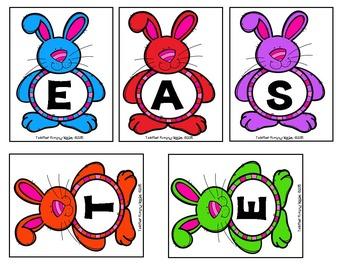 FREE Word Work Fun (Make a Word):  Easter Egg Hunt!
