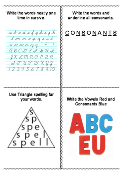 FREE Word Work Task Cards for ANY list