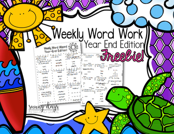 FREE Word Work {Year End Edition}