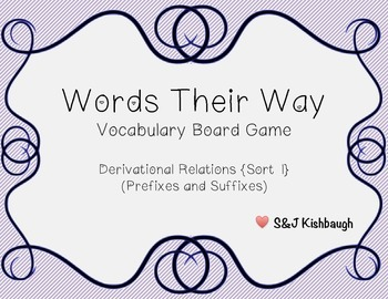 {FREE} Words Their Way Vocabulary Board Game