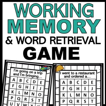 Working Memory & Word Retrieval Game