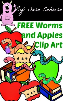 Worms and Apples Clip Art