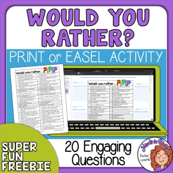 photo relating to Would You Rather Printable identified as Would On your own Fairly Issues