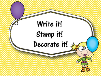 FREE Write it! Stamp it! Decorate it! Word Work Sight Word