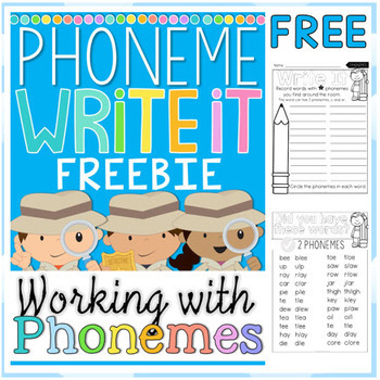 FREE Write the Room - Phonemes Write it with Phoneme Lists