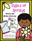 FREE Write the Room: Signs of Spring