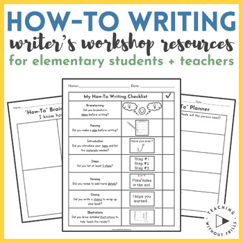 FREE Writer's Workshop How-To Writing Graphic Organizer and Writing Paper