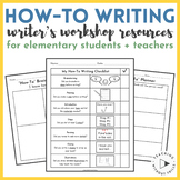 Writer's Workshop How-To Writing Graphic Organizer and Writing Paper Booklets