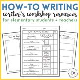 Writer's Workshop How-To Writing Graphic Organizer and Wri