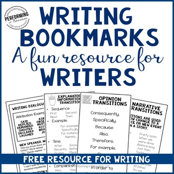 FREE Writing Bookmarks