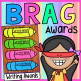 FREE Writing Brag Award - Black and White Ink Friendly