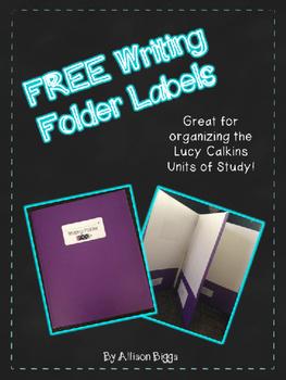 FREE Writing Folder Labels