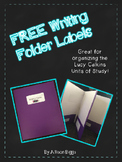 FREE Writing Folder Labels