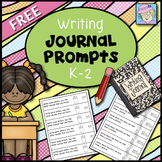 Writing Journal Prompts Kindergarten 1st and 2nd Grade FREE