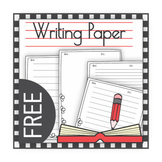 FREE Writing Paper No Themed Anytime Use