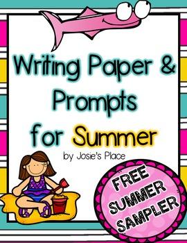 FREE Writing Paper for Summer Sampler