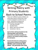 Back to School Poems -Writing Poetry With Primary Students