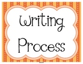 FREE Writing Process Status Posters in Orange