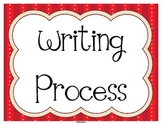 Writing Process Status Posters in Red