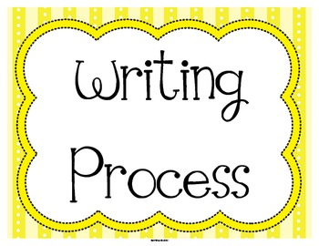 FREE Writing Process Status Posters in Yellow