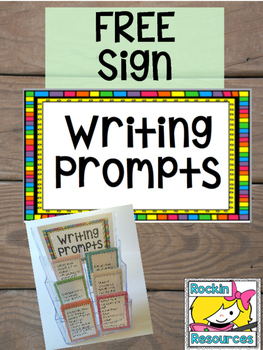FREE Writing Prompts Sign