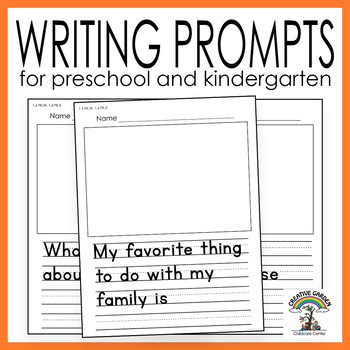 FREE Writing Prompts and Drawing Worksheets for Preschool and ...