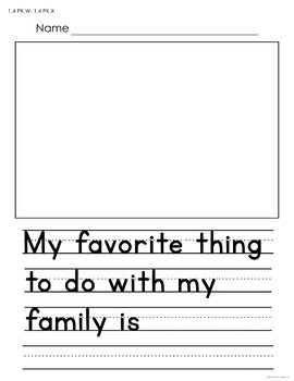 FREE Writing Prompts and Drawing Worksheets for Preschool and Kindergarten