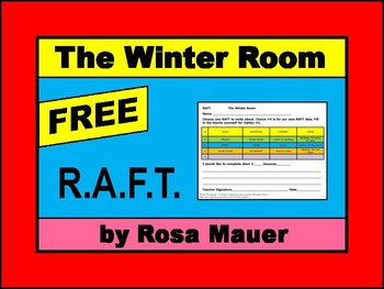 FREE Writing RAFT for The Winter Room by Gary Paulsen
