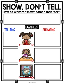FREE Writing Strategies Poster: Show, Don't Tell Poster & Anchor Chart