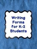 FREE Writing Templates Grades K, 1, 2