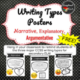 FREE Writing Types Posters