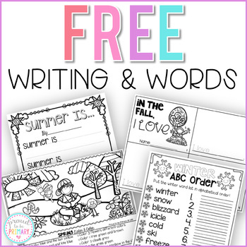 FREE Writing and Word Activities